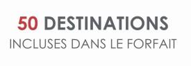50 destinations